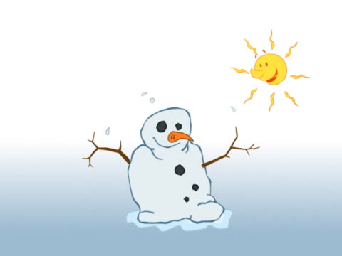 melting snowman - schneemann stock-videos und b-roll-filmmaterial