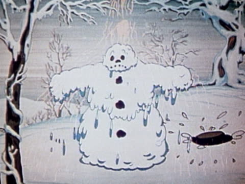 melting snowman - snowman stock videos & royalty-free footage