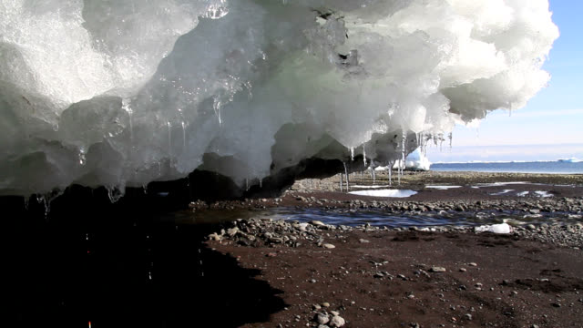 """meltwater from glacial ice, greenland"" - melting stock videos & royalty-free footage"