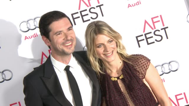 """melvil poupaud and mélanie laurent at """"by the sea"""" world premiere gala screening - afi fest 2015 at tcl chinese theatre on november 05, 2015 in... - tcl chinese theatre stock videos & royalty-free footage"""