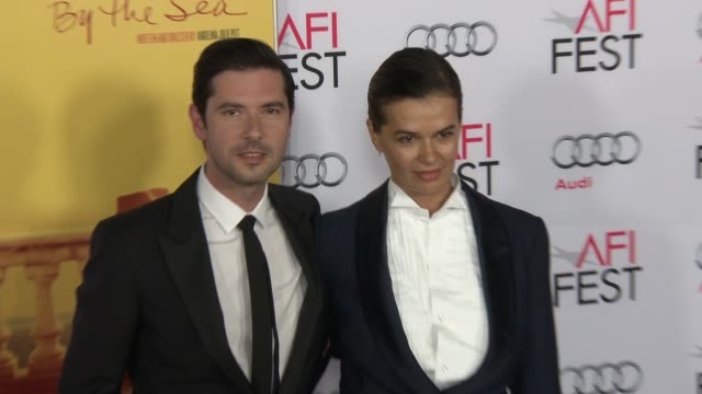 """stockvideo's en b-roll-footage met melvil poupaud at """"by the sea"""" world premiere gala screening - afi fest 2015 at tcl chinese theatre on november 05, 2015 in hollywood, california. - filmscreening"""