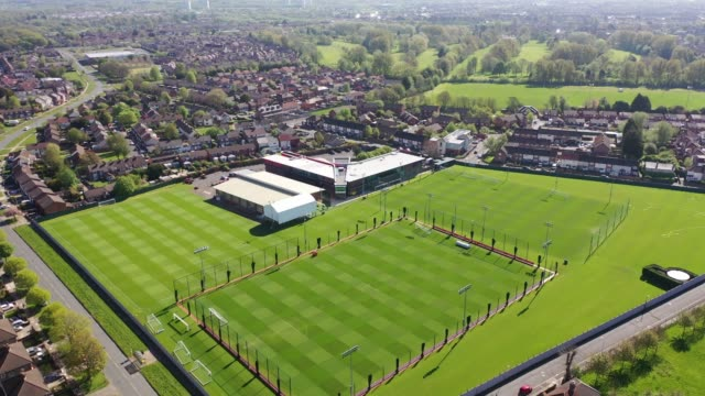 melwood, the training ground of liverpool football club during the coronavirus pandemic lockdown on april 20, 2020 in liverpool, england. liverpool... - sports training stock videos & royalty-free footage