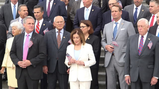 member of the us house observe a moment of silence to honor the 18th anniversary of the september 11 terrorist attacks - congress stock videos & royalty-free footage