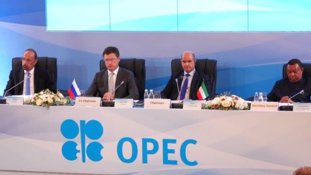 OPEC members meet in St Petersburg in Russia on Monday