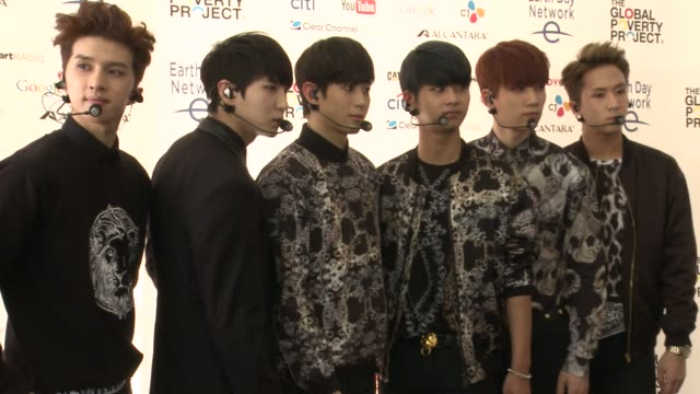 vidéos et rushes de members n, leo, ken, ravi, hongbin, and hyuk at global citizen 2015 earth day on national mall to end extreme poverty and solve climate change at... - k pop