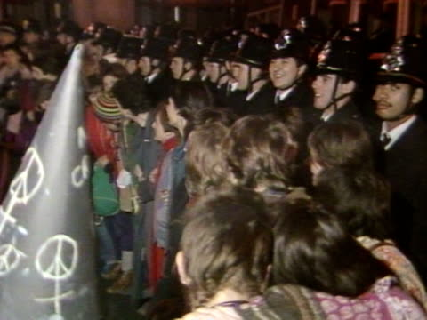 members occupy trafalgar square to protest against nuclear weapons. - nuclear weapon stock videos & royalty-free footage