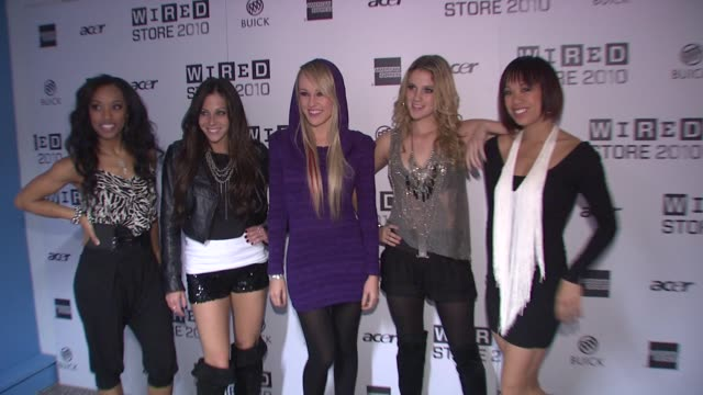 members of bg5 at the wired celebrates the 2010 wired store experiential gallery opening in noho at new york ny - l'uomo e la macchina video stock e b–roll