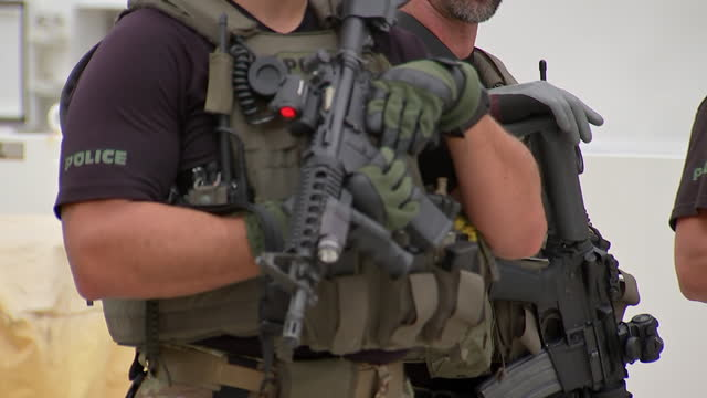 members of homeland security investigations, an investigative arm of the department of homeland security and ice holding guns. - department of homeland security stock videos & royalty-free footage