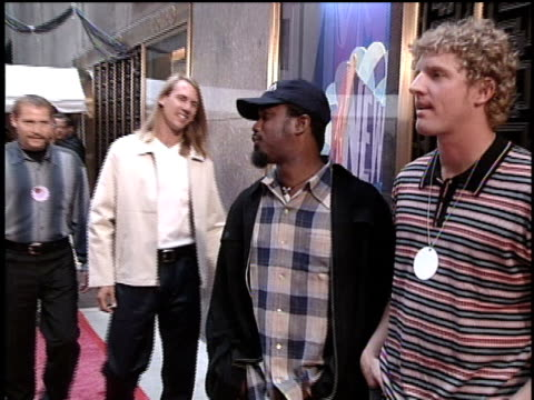 members of hootie and the blowfish arriving at the 1996 video music awards - mtv video music awards stock videos and b-roll footage