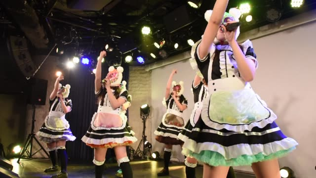 members of japanese pop group 'virtual currency girls' perform onstage in tokyo japan on friday feb 16 photographer noriko hayashi/bloomberg - financial accessory stock videos and b-roll footage