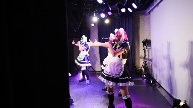 members of japanese pop group 'virtual currency girls' practise their routines in tokyo japan on friday feb 16 photographer noriko hayashi/bloomberg - financial accessory stock videos and b-roll footage