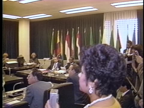 members of opec discuss the setting of a deadline for production and pricing. - (war or terrorism or election or government or illness or news event or speech or politics or politician or conflict or military or extreme weather or business or economy) and not usa stock videos & royalty-free footage
