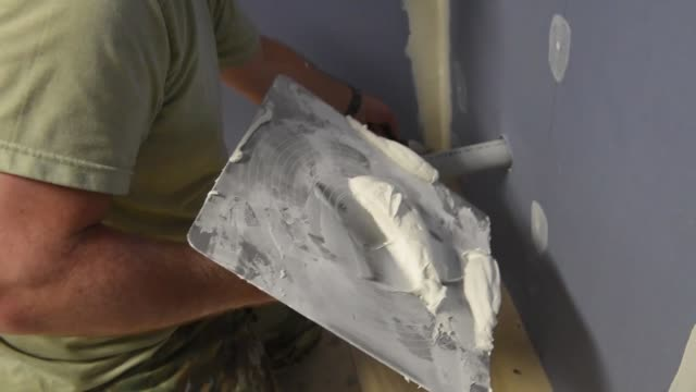 members of pennsylvania air national guard perform various construction activities during a deployment for training in ontario canada - tape measure stock videos & royalty-free footage