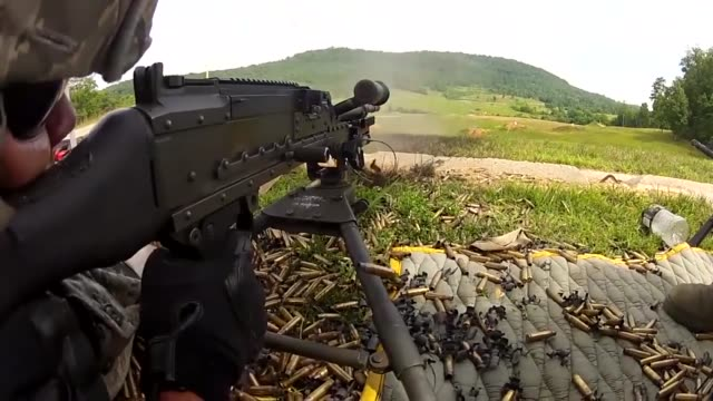 members of the 116th security forces squadron , georgia air national guard, train on the m240 and m249 machine guns during a training exercise at the... - train guard stock videos & royalty-free footage