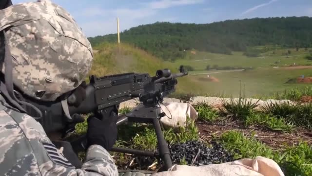 members of the 116th security forces squadron georgia air national guard train on the m240 and m249 machine guns during a training exercise at the... - carbine stock videos and b-roll footage