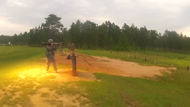 Members of the 155th Infantry Regiment conduct live fire training with the AT4at the Camp Shelby Joint Forces Training Center This training allows...