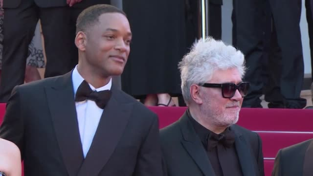 Members of the 2017 Cannes jury walked the red carpet ahead of the festival opening ceremony with Will Smith Paolo Sorrentino Agnes Jaoui jury...