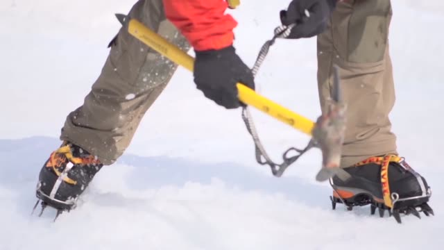 Members of the 212th Rescue Squadron conducted glacier travel training on the Matanuska Glacier in Alaska
