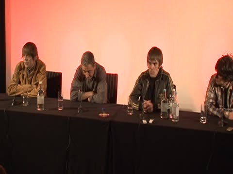 members of the band stone roses comment on their reunion after 15 years apart - moderne rockmusik stock-videos und b-roll-filmmaterial