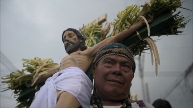 members of the brotherhood of el nazareno participate in the los cristos procession in the indigenous town of izalco 60 km west of san salvador where... - friday stock videos & royalty-free footage