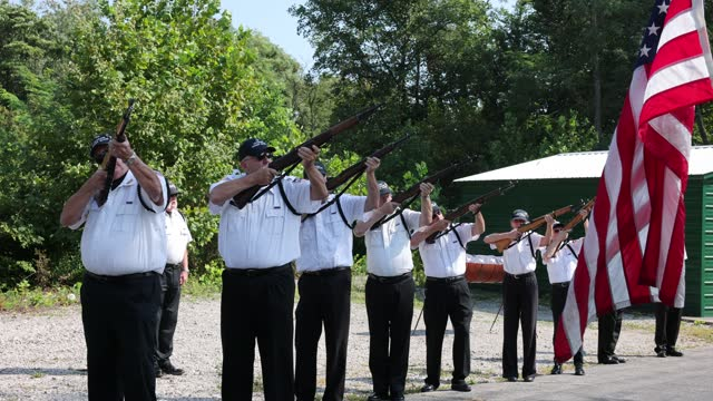 IN: 9/11 Remembrance Ceremony And Flag Retirement At American Legion In Indiana