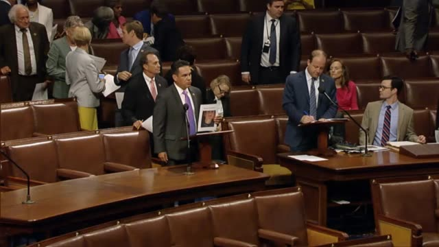 vídeos y material grabado en eventos de stock de members of the house democratic caucus obtain recognition in turn to seek consent to call up a piece of legislation relating to background checks for... - aprobado