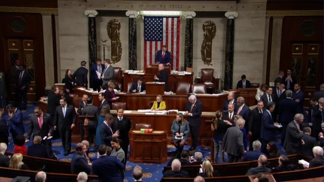 members of the house of representatives are seen chatting with each other in the well during a procedural vote two days before a partial government... - house of representatives stock videos & royalty-free footage