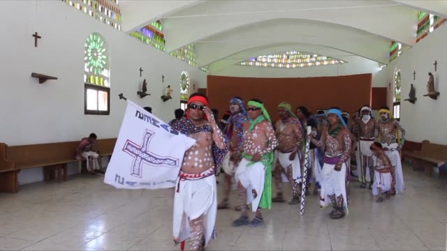 members of the indigenous raramuri ethnic group also known as taramura in mexico celebrate the holy week with dance and music - holy week stock videos & royalty-free footage