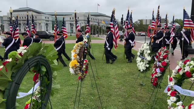 members of the knights of columbus honor guard prepare to celebrate italian explorer christopher columbus at the monument dedicated to him on... - christopher columbus explorer stock videos & royalty-free footage