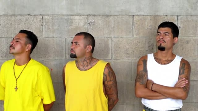 members of the mara 18 gang attended a mass in the prison of izalco 70 km west of san salvador on friday izalco el salvador - metric system stock videos and b-roll footage