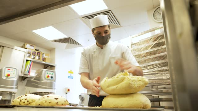members of the pastry team prepare items in the pastry kitchen at the shangri-la hotel at the shard as it re-opens to the public on may 17, 2021 in... - kitchen stock videos & royalty-free footage