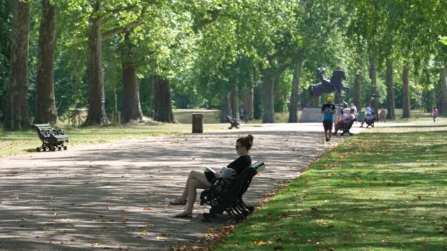 members of the public enjoy the heat in hyde park as the uk a summer heatwave on july 31, 2020 in london, england. - summer stock videos & royalty-free footage