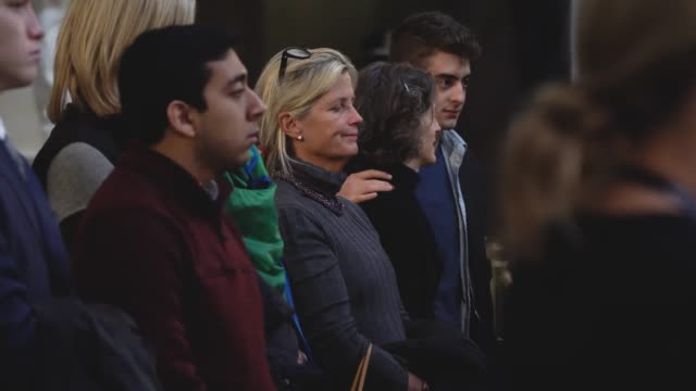 Members of the public file through the US Capitol Rotunda to view the casket and pay respect to the late former US President George HW Bush as he...