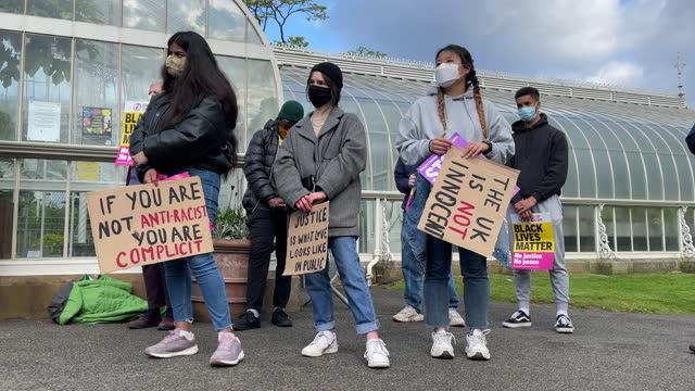 members of the public gather to hear speeches and take a knee in the botanic gardens, marking the first anniversary of george floyd's death, on may... - limb body part stock videos & royalty-free footage