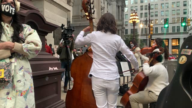 members of the resistance revival chorus perform outside of the city hall poling site on november 03, 2020 in philadelphia, pennsylvania. after a... - joe 03 stock videos & royalty-free footage