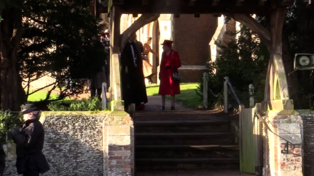 members of the royal family leave their traditional christmas day service at st mary magdalene church on the queen's sandringham estate the duke and... - service stock videos & royalty-free footage