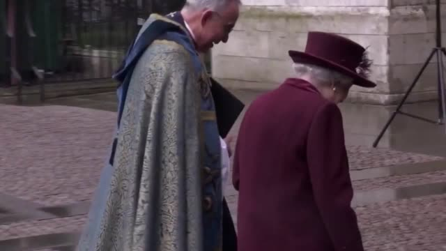 Members of the Royal family politicians and musicians arrive at Westminster Abbey ahead of the Queen for a service marking Commonwealth Day The event...
