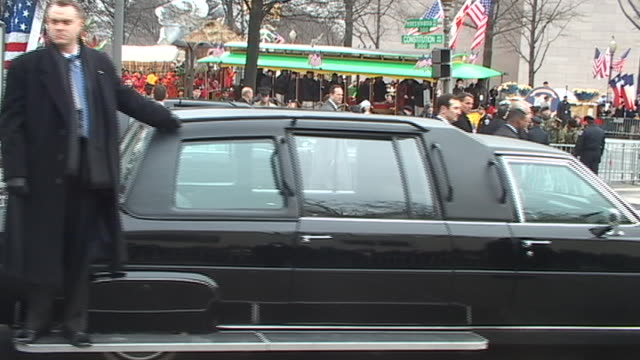 members of the secret service guard armored limousines during the second inauguration parade of george w. bush. - 2005 stock videos & royalty-free footage