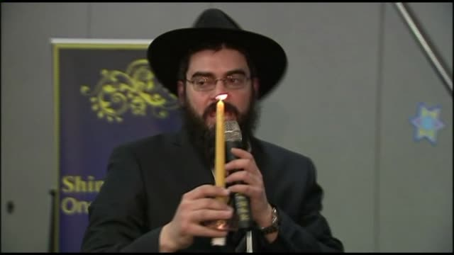 wpix members of the staten island's russian jewish community gathered to celebrate the first two nights of hanukah on december 09 2012 in new york... - religious equipment stock videos & royalty-free footage