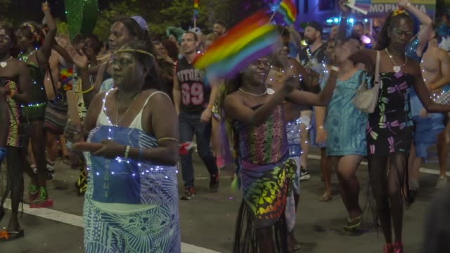 Members of the Tiwi Islands transgendered community prepare ahead of the Sydney Gay and Lesbian Mardi Gras parade on March 04 2017 in Sydney...