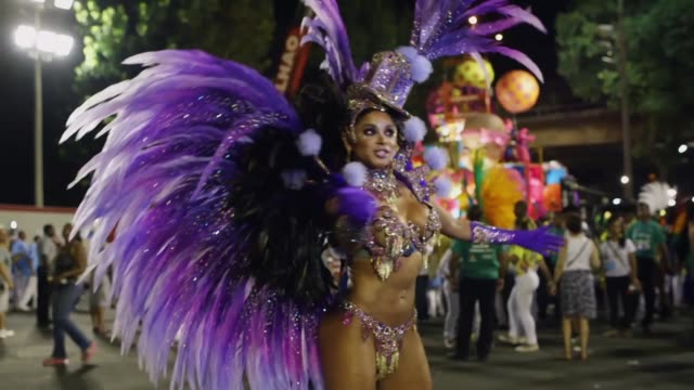 ms members of the uniao samba school get ready prior to their entrance as part of the 2014 brazilian carnival at sapucai sambadrome on march 04 2014... - samba school stock videos and b-roll footage
