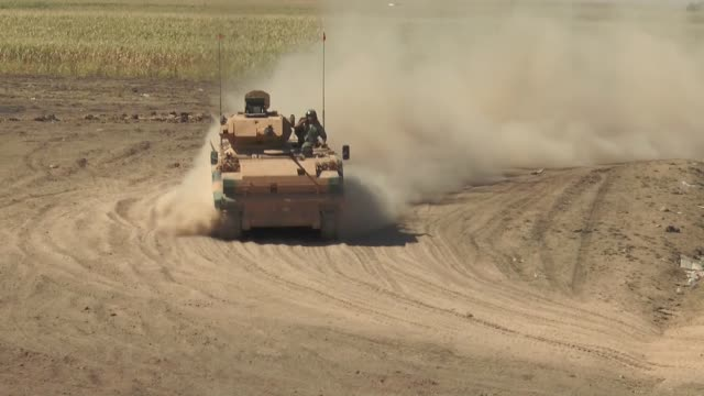 members of turkish and iraqi armed forces take part in a joint military exercise on the turkishiraqi border near the habur border gate in silopi... - military exercise stock videos and b-roll footage