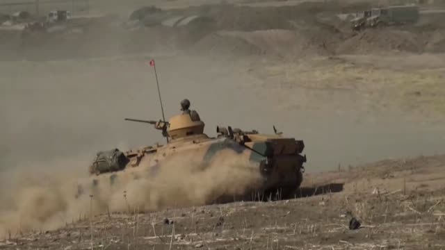 members of turkish and iraqi armed forces take part in the ongoing joint military exercise on the turkishiraqi border near habur border gate in... - silopi stock videos and b-roll footage