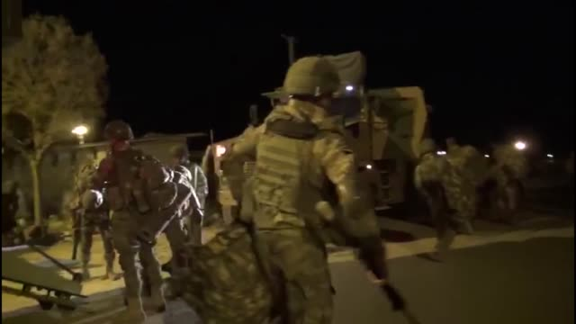 members of turkish armed forces continue operations against the pkk, listed as a terrorist organization by turkey, the u.s. and the eu, and the... - クルド人点の映像素材/bロール