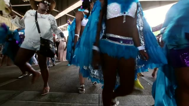 members participate in the original big 7 social aid and pleasure club 'second line' parade on may 10 2015 in neworleans louisiana traditional second... - social history stock videos & royalty-free footage
