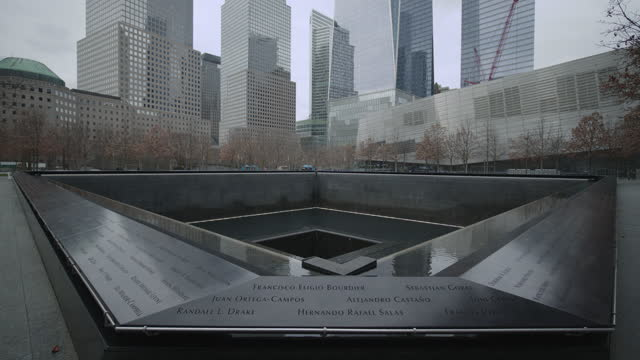 9/11 memorial and museum in ny - world trade center manhattan stock videos & royalty-free footage