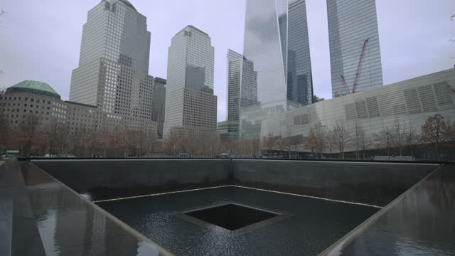 9/11 memorial and museum in ny - september 11 2001 attacks stock videos & royalty-free footage