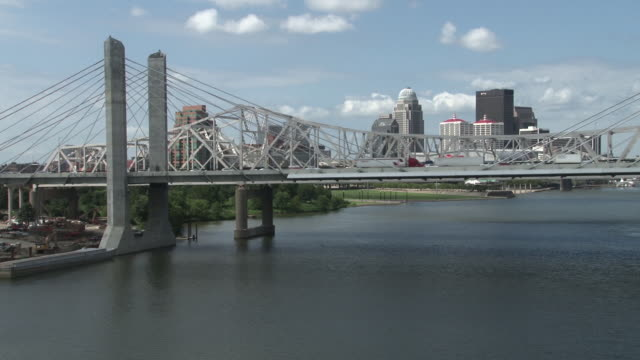 JFK Memorial Bridge With Louisville Skyline