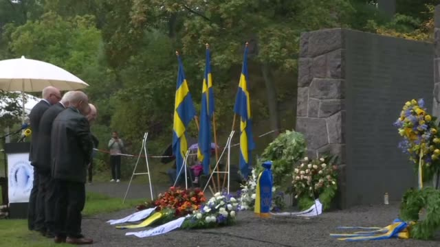 a memorial ceremony is held for the victims of the sinking the ms estonia 25 years ago in the baltic sea which left 852 people dead - sink stock videos & royalty-free footage