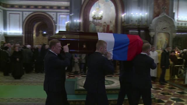 a memorial ceremony is held in moscow for slain russian ambassador andrei karlov who was assassinated in turkey by an off duty policeman - assassination of andrei karlov stock videos & royalty-free footage